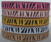 10mm ZEBRA STRIPS GROSGRAIN RIBBON (5 colours)